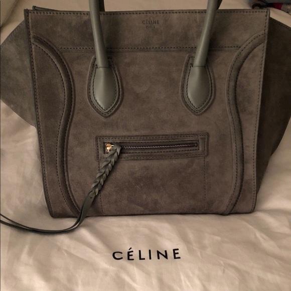 10188e9b34 Celine Handbags - Authentic Celine phantom luggage gray suede bag